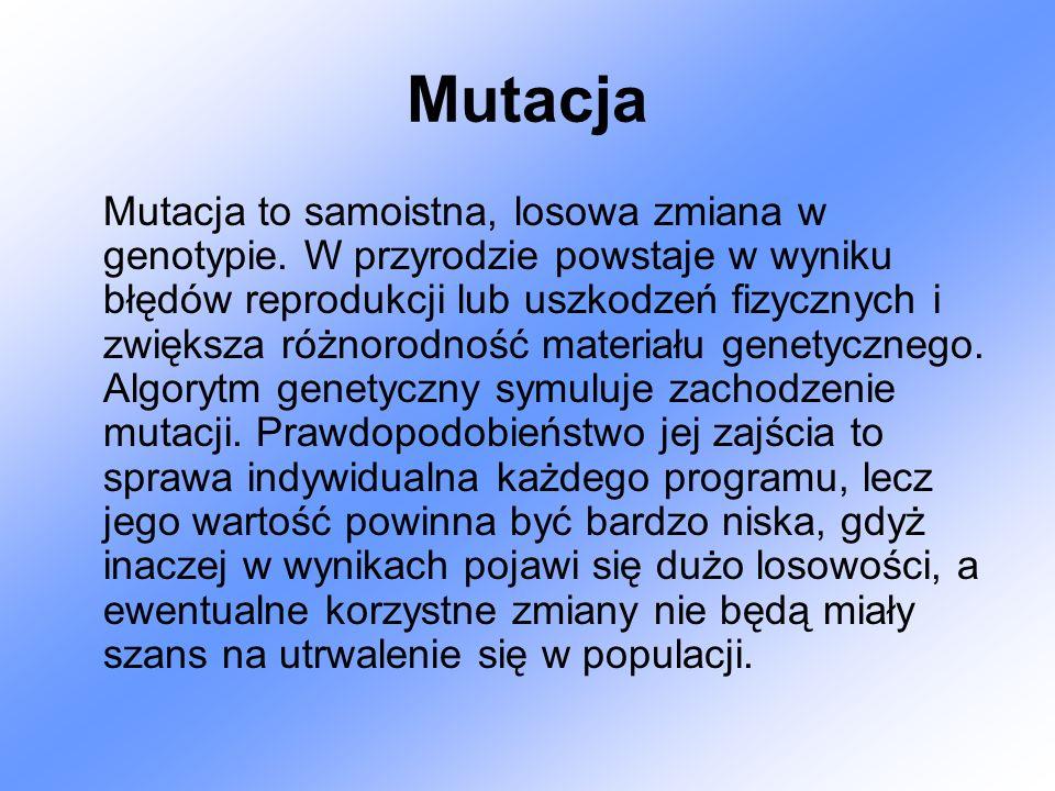 Mutacja Mutacja to samoistna, losowa zmiana w genotypie. W przyrodzie powstaje w wyniku błędów reprodukcji lub uszkodzeń fizycznych i zwiększa różnoro