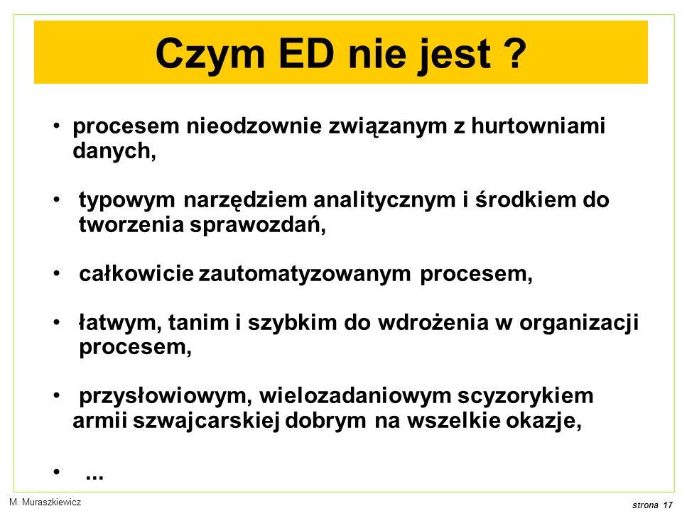 strona 17 M. Muraszkiewicz Czym ED nie jest .