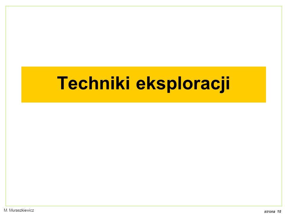 strona 18 M. Muraszkiewicz Techniki eksploracji