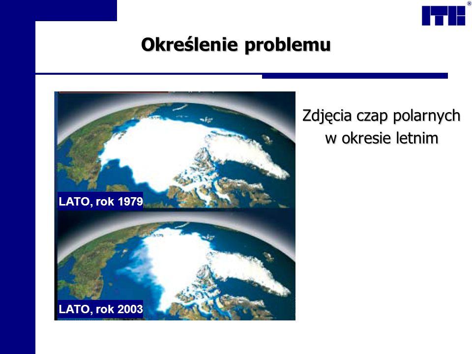 Określenie problemu Zdjęcia czap polarnych w okresie letnim LATO, rok 1979 LATO, rok 2003