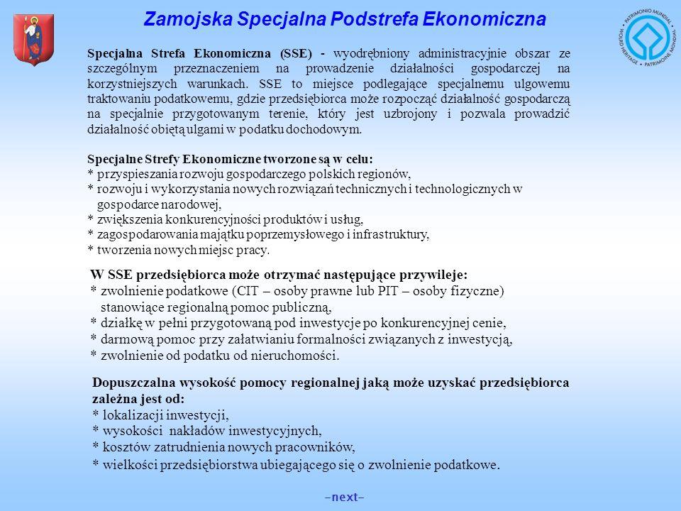 Zamojska Specjalna Podstrefa Ekonomiczna Specjalna Strefa Ekonomiczna (SSE) - wyodrębniony administracyjnie obszar ze szczególnym przeznaczeniem na pr