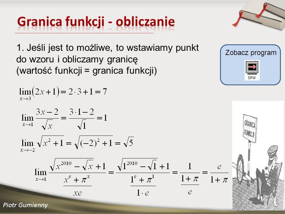 Piotr Gumienny Zobacz program 1.