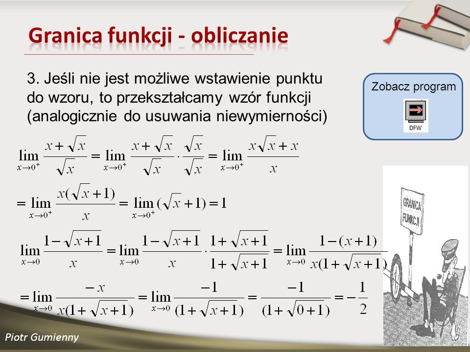 Piotr Gumienny Zobacz program 3.