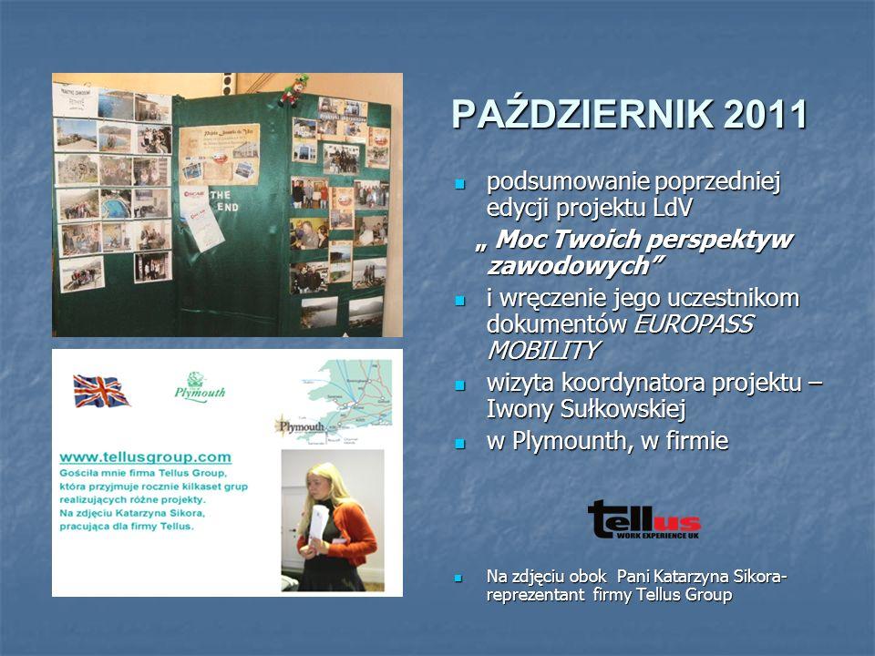 LISTOPAD 2011/ LUTY 2012 REALIZUJEMY SZKOLENIA PRZYGOTOWAWCZE XI`11r.