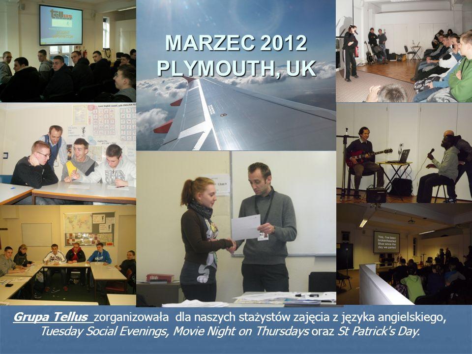 MARZEC 2012 CITY COLLEGE, PLYMOUTH Opiekę nad stażystami sprawowali: P.