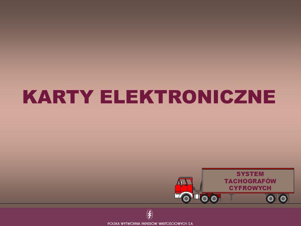 KARTY ELEKTRONICZNE SYSTEM TACHOGRAFÓW CYFROWYCH