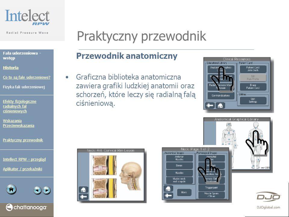 Praktyczny przewodnik Przewodnik anatomiczny Graficzna biblioteka anatomiczna zawiera grafiki ludzkiej anatomii oraz schorzeń, które leczy się radialn