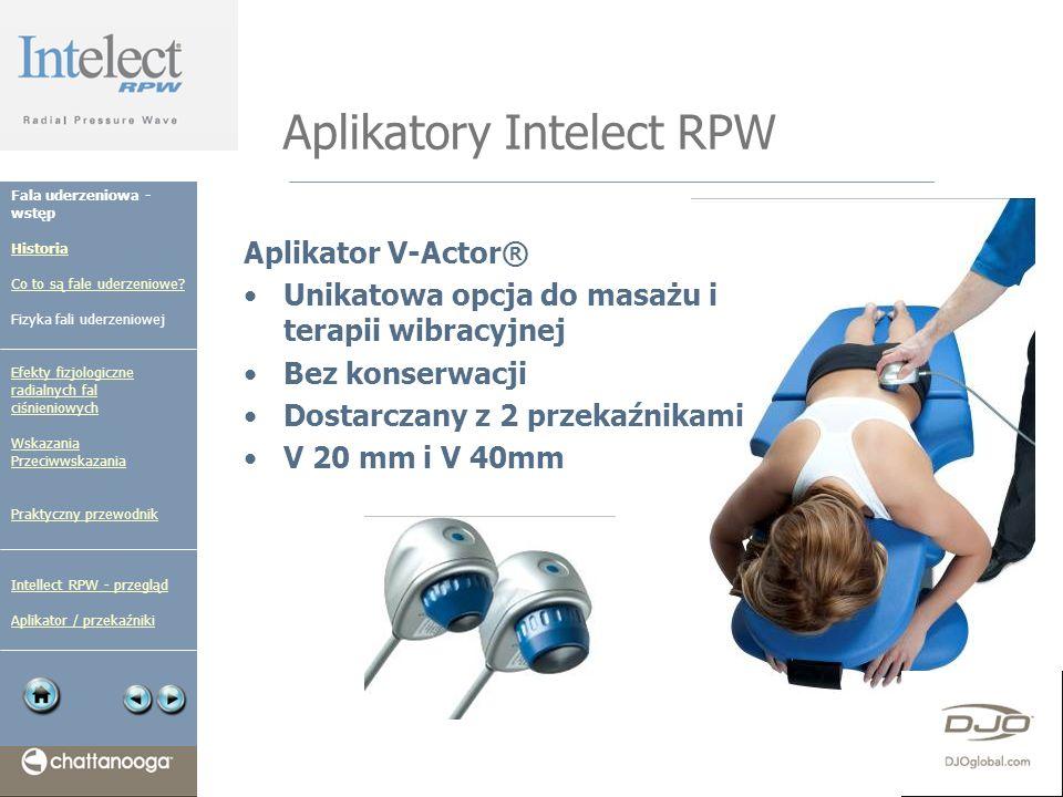 Aplikatory Intelect RPW Aplikator V-Actor® Unikatowa opcja do masażu i terapii wibracyjnej Bez konserwacji Dostarczany z 2 przekaźnikami V 20 mm i V 4
