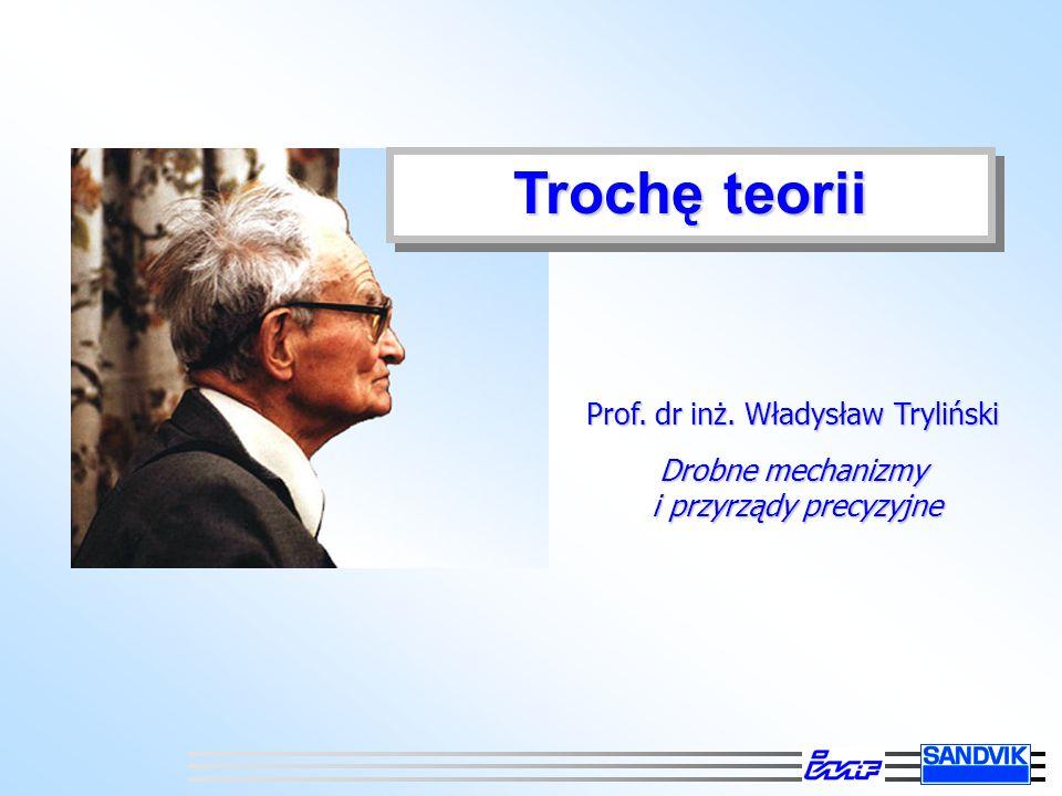 Trochę teorii Prof. dr inż. Władysław Tryliński Drobne mechanizmy i przyrządy precyzyjne