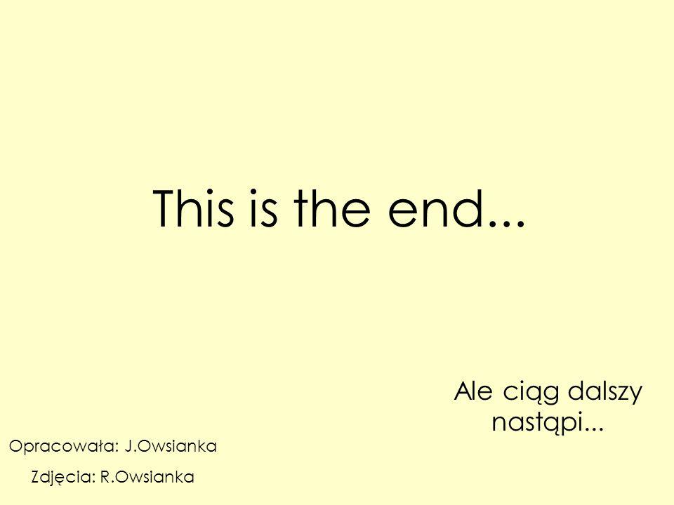 This is the end... Ale ciąg dalszy nastąpi... Opracowała: J.Owsianka Zdjęcia: R.Owsianka