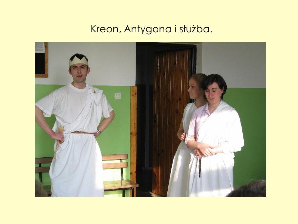 Kreon, Antygona i służba.