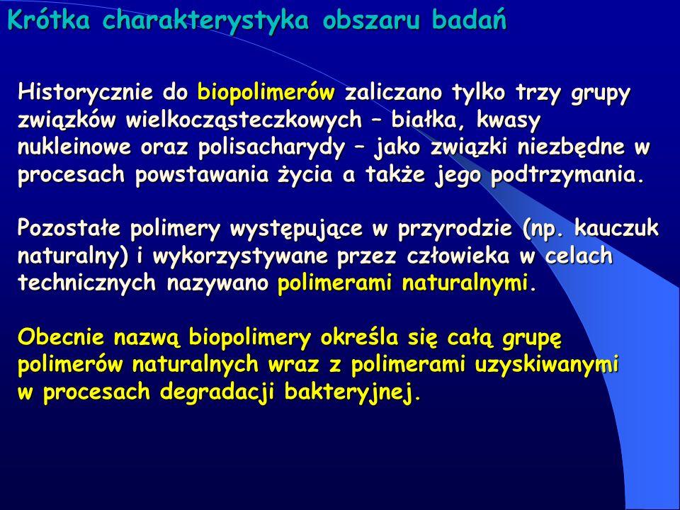 Tematyka 1.Włókna naturalne 2.Polisacharydy 3.Ligniny 4.Polimery biodegradowalne 5.Poliole i poliuretany otrzymywane w oparciu o surowce odnawialne 6.Białka i kompleksy białkowe 7.Biokompozyty i nanobiokompozyty 8.Biopaliwa 9.Biokonwersja węgla i biodegradacja celulozy 10.Bioaktywne polimery funkcjonalne Krótka charakterystyka obszaru badań