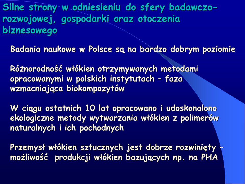 Silne strony w odniesieniu do sfery badawczo- rozwojowej, gospodarki oraz otoczenia biznesowego Badania naukowe w Polsce są na bardzo dobrym poziomie
