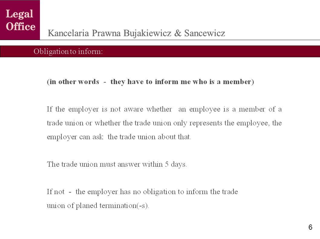 Obligatory negotiation Kancelaria Prawna Bujakiewicz & Sancewicz 17
