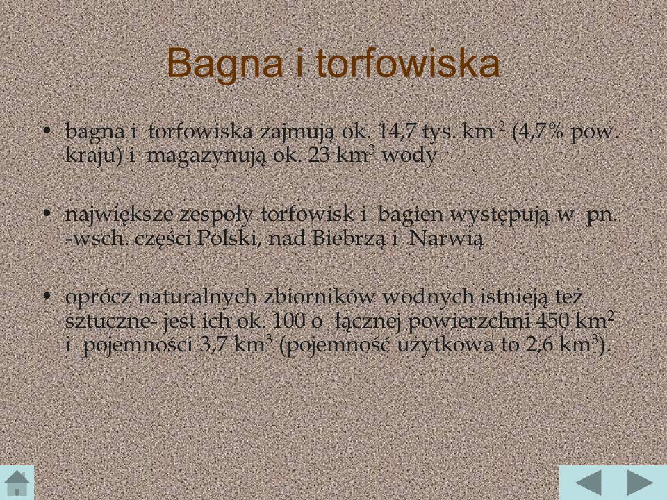 Wody podziemne zmineralizowane wody wypływające z głębszych warstw skalnych są zwykle silniej zmineralizowane w Polsce występują: I.solanki (Kołobrzeg