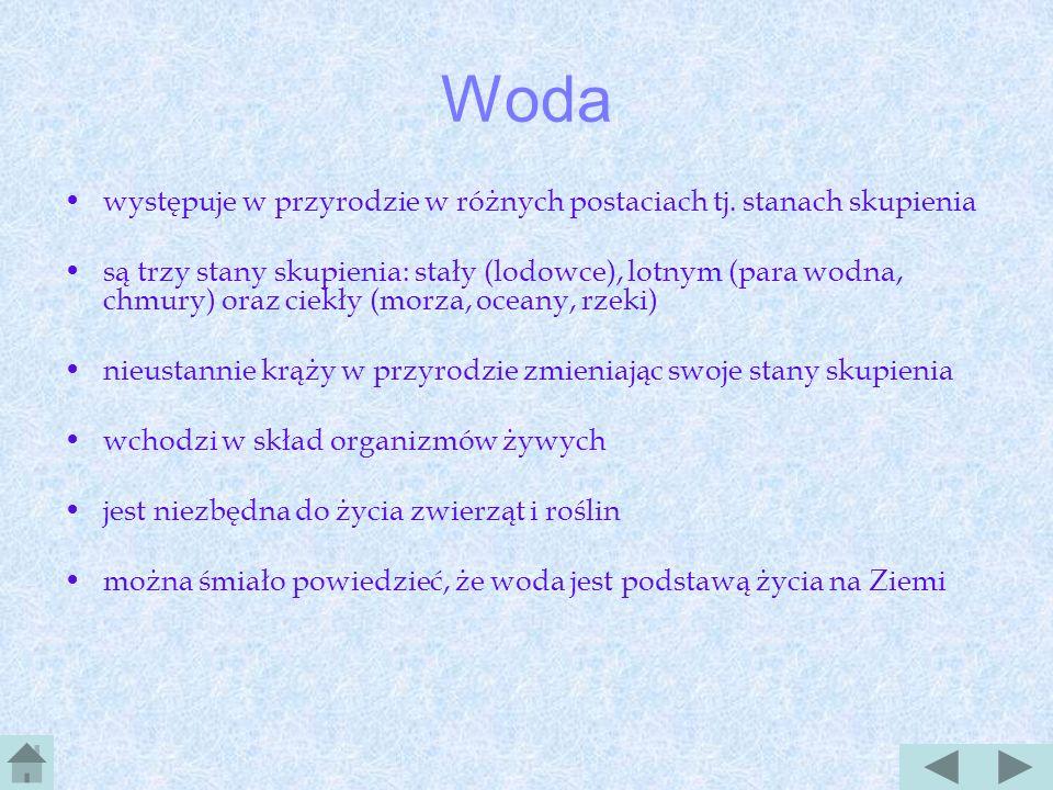 Spis treści Woda Wody w Polsce Wody przybrzeżne Rzeki w Polsce Charakterystyka rzek a.-- b.-- c.-- Główne rzeki Opady w Polsce Mapa opadów Jeziora a.-
