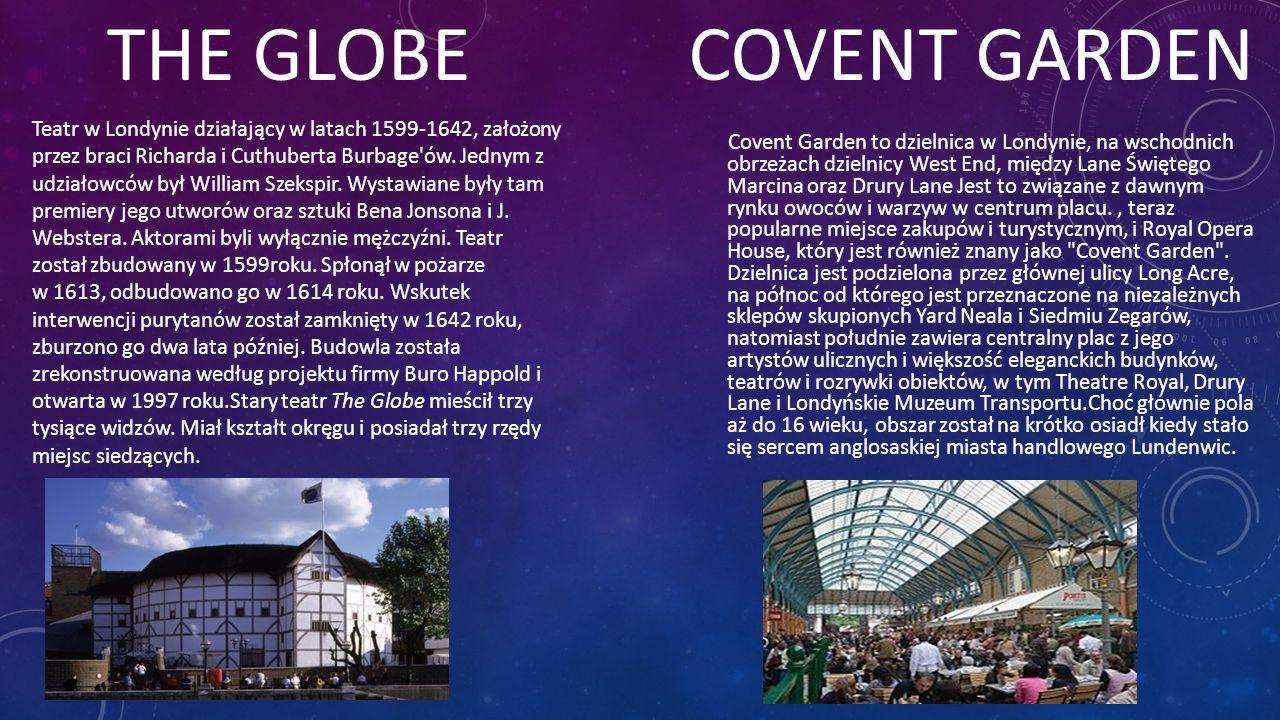 Covent Garden to dzielnica w Londynie, na wschodnich obrzeżach dzielnicy West End, między Lane Świętego Marcina oraz Drury Lane Jest to związane z daw