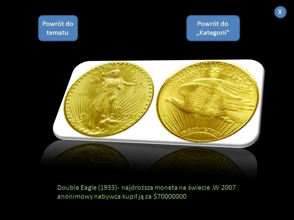 Numizmatyka X Powrót do Kategorii Numizmatyka jest to nauka pomocnicza historii, zajmująca się badaniem monet, banknotów i innych znaków pieniężnych p