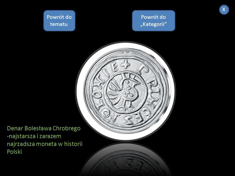 Double Eagle (1933)- najdroższa moneta na świecie.W 2007 anonimowy nabywca kupił ją za $70000000 Powrót do Kategorii X Powrót do tematu