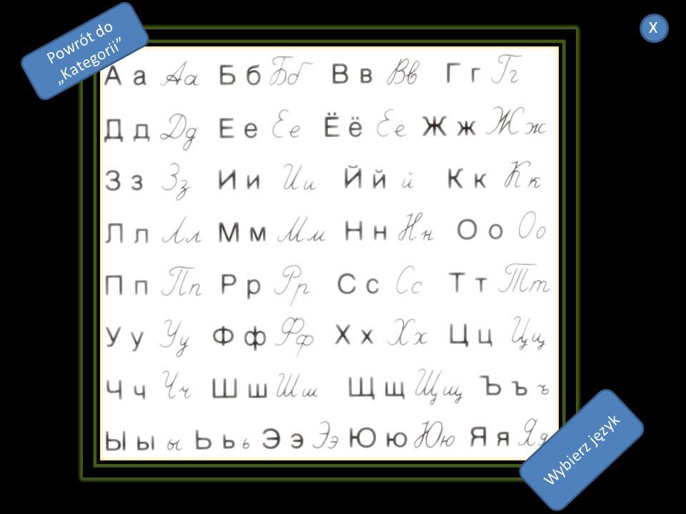 1 należy do grupy języków wschodniosłowiańskich 2.zapisywany jest tzw. grażdanką, czyli graficzną odmianą cyrylicy powstałą na skutek jej upraszczania