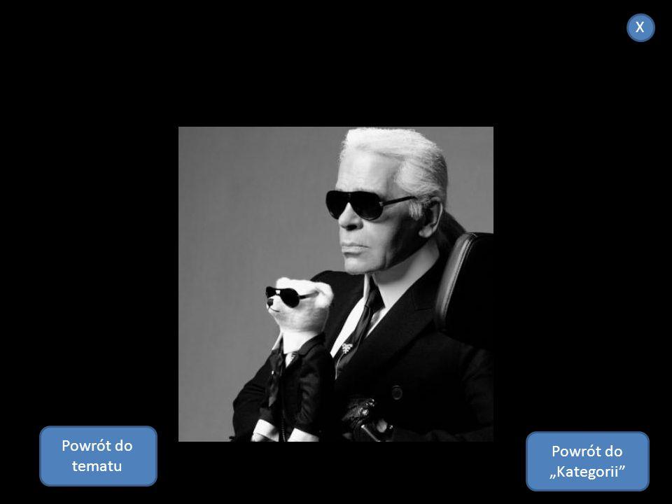 Karl Lagerfeld, ur. 10 września 1933 w Hamburg – niemiecki projektant mody, artysta oraz fotograf osiadły w Paryżu. Pracował nad wieloma projektami mo