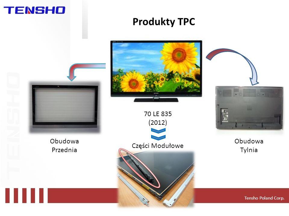 Tensho Poland Corp. Produkty TPC 70 LE 835 (2012) Application - LCD TVs Obudowa Przednia Obudowa Tylnia Części Modułowe