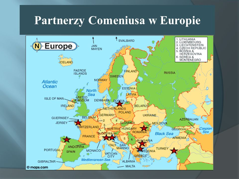 Partnerzy Comeniusa w Europie