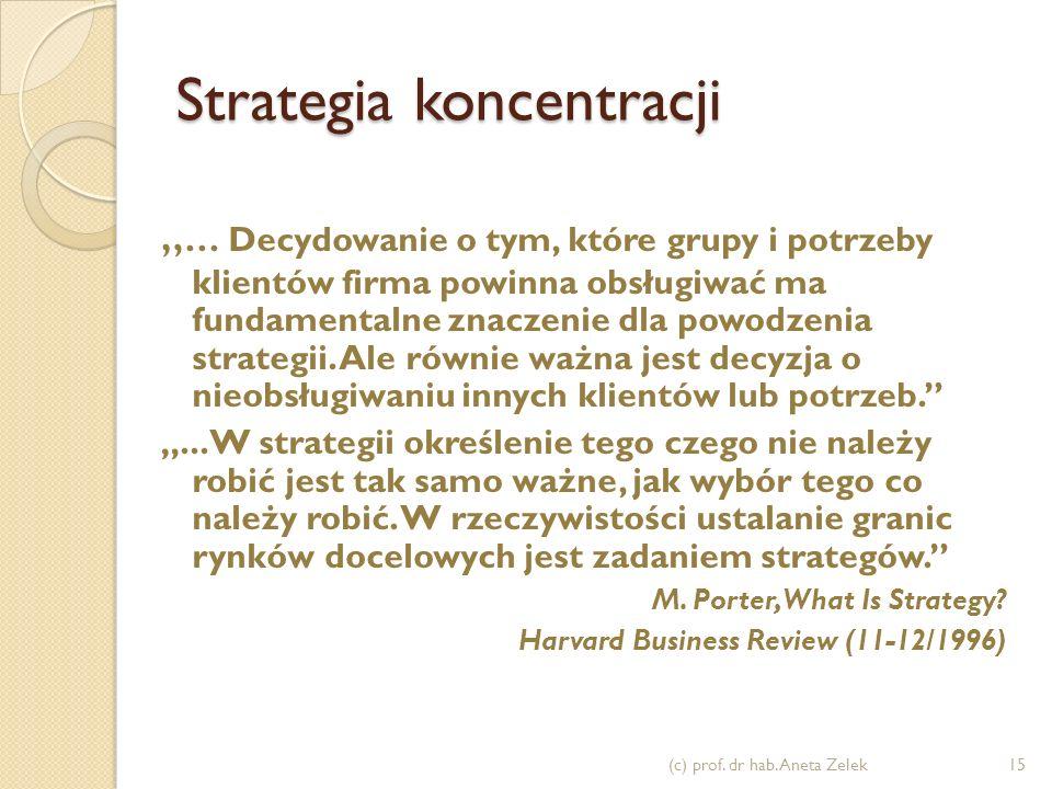 Strategia zróżnicowania - cechy długa tradycja w sektorze znana, renomowana marka lojalni nabywcy rozwinięty, wyrafinowany marketing innowacyjność tec