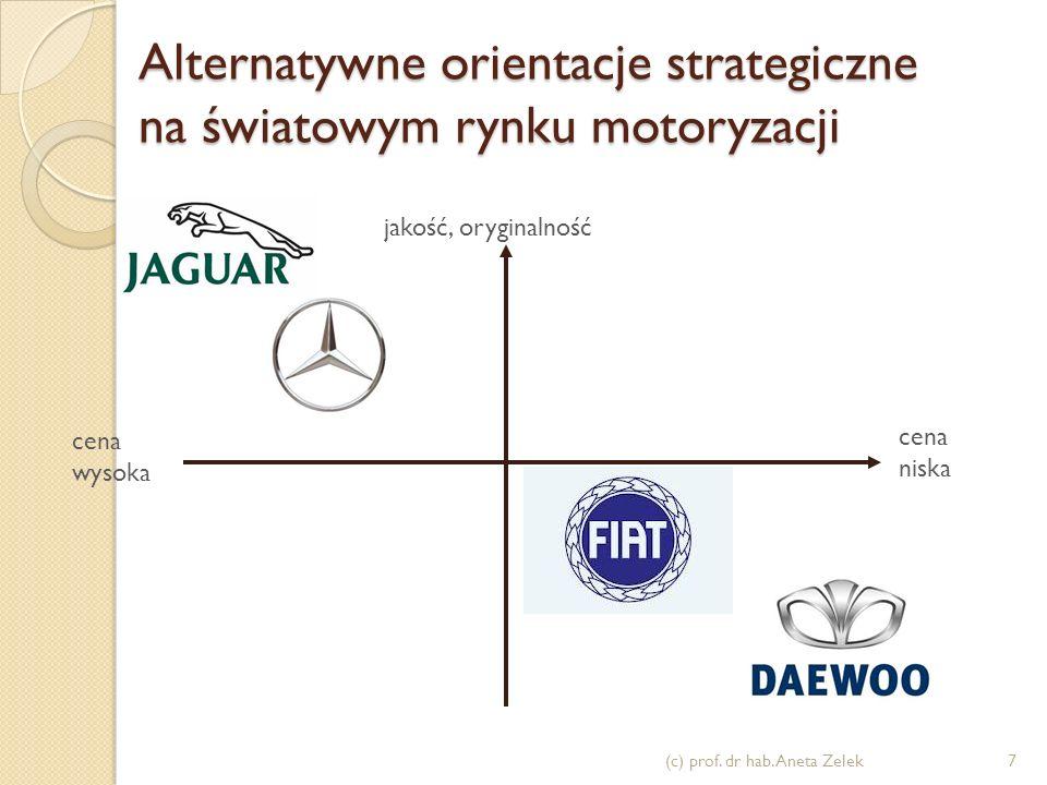 Alternatywne orientacje strategiczne na światowym rynku motoryzacji (c) prof.