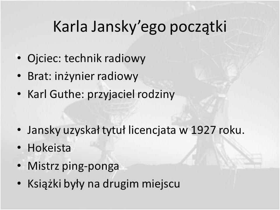 Pierwsze udane obserwacje Karl Guthe Jansky