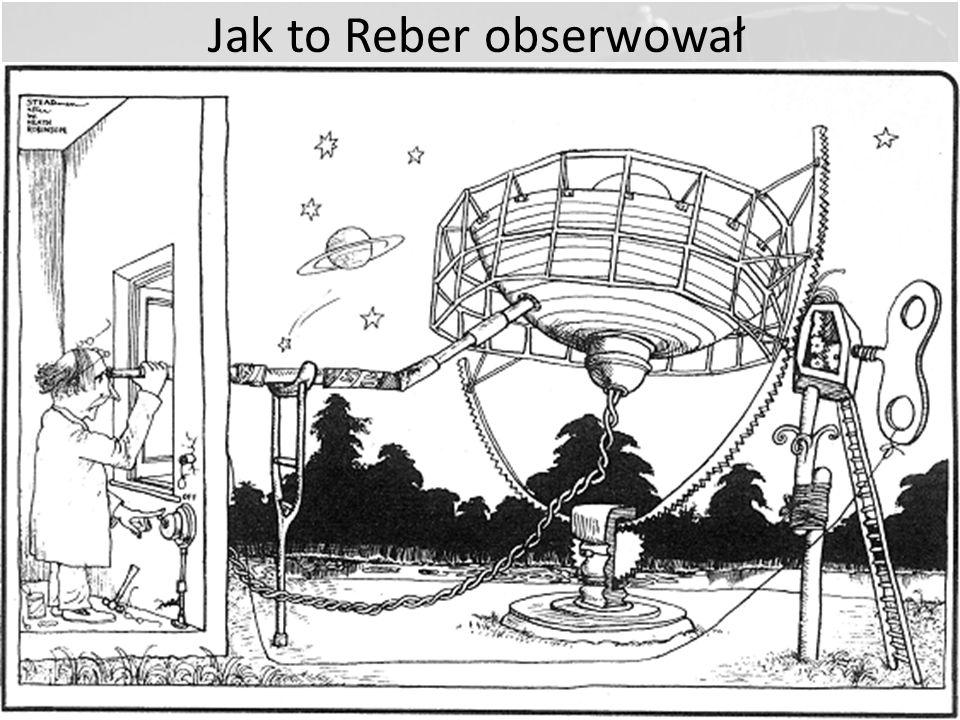 Grote Reber, Radioamator założycielem radioastronomii Zajmował się krótkofalarstwem [W9GFZ] Zainteresował się pracami Janskyego Zbudował pierwszą ante
