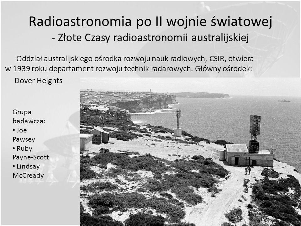 Radioastronomia z rozmachem - rozwój radarów podczas II wojny światowej Tak naprawdę pierwszą osobą, która z premedytacją podglądała Słońce radiowo, b