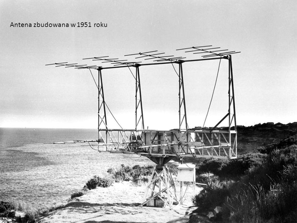 Luty 1945 rok: pierwszy interferometr Ocean jako zwierciadło Lloyda Interferometr z jednej anteny Zwykłe anteny YAGI!