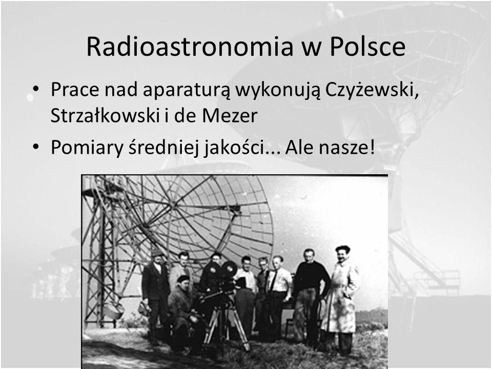 Radioastronomia w Polsce Początki w Krakowie Prof. Banachiewicz zleca prof. Strzałkowskiemu zreferować prace Rebera (1952 r.) Banachiewicz zakłada Obs