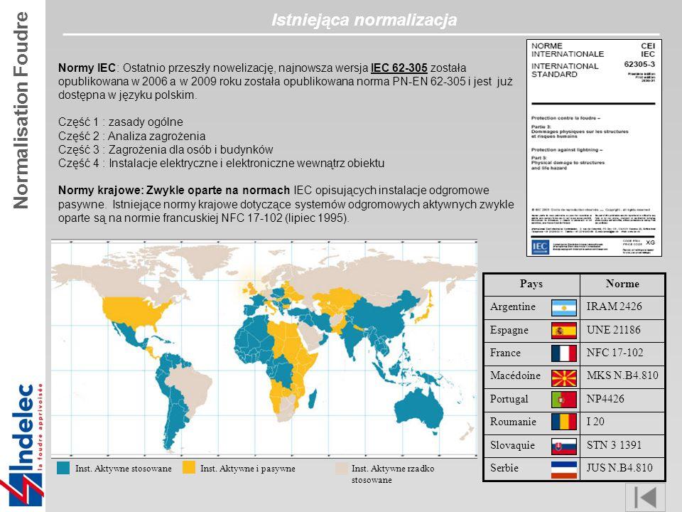Normy IEC: Ostatnio przeszły nowelizację, najnowsza wersja IEC 62-305 została opublikowana w 2006 a w 2009 roku została opublikowana norma PN-EN 62-305 i jest już dostępna w języku polskim.