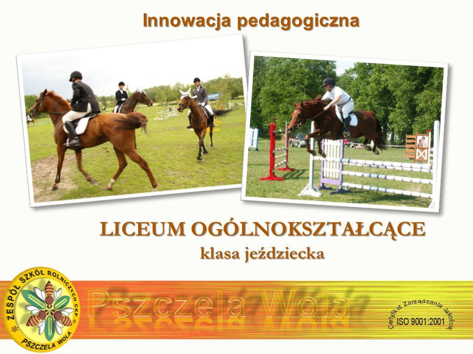 Innowacja pedagogiczna LICEUM OGÓLNOKSZTAŁCĄCE klasa jeździecka