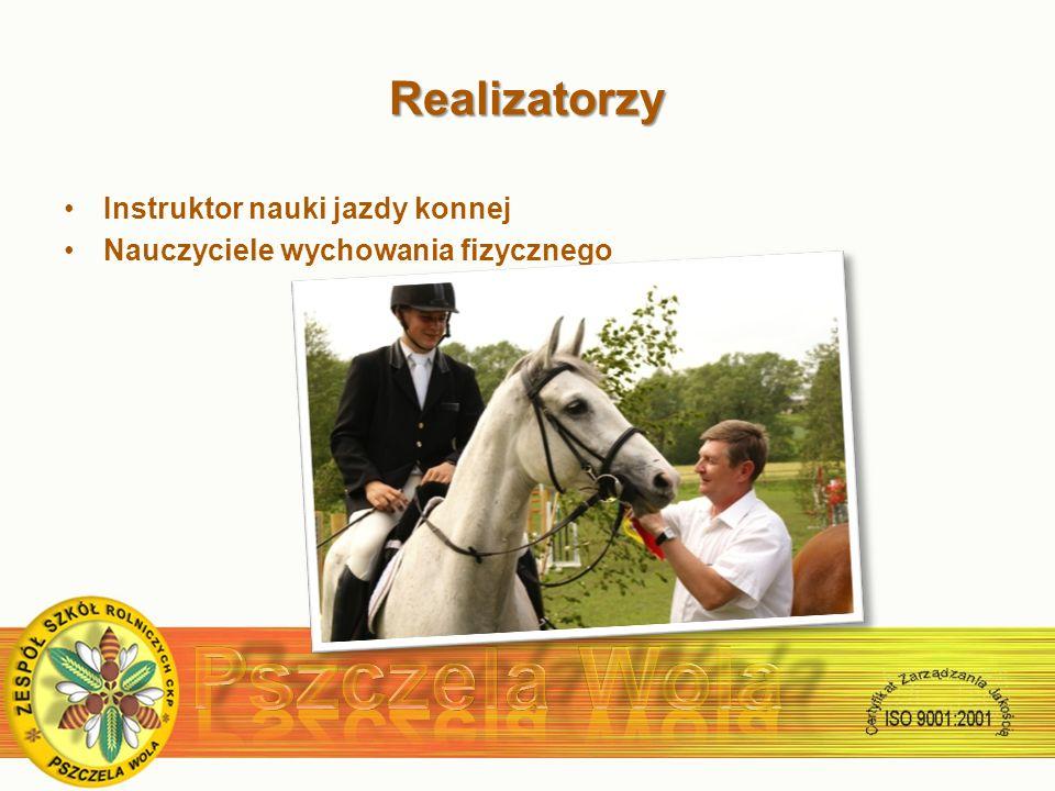 Realizatorzy Instruktor nauki jazdy konnej Nauczyciele wychowania fizycznego