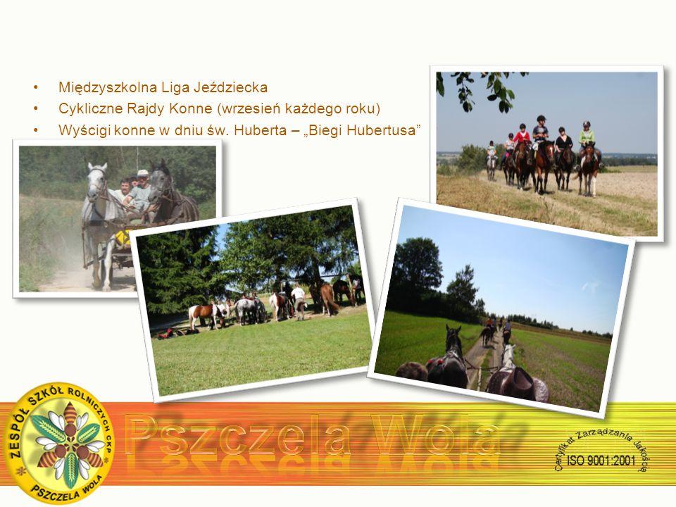 Międzyszkolna Liga Jeździecka Cykliczne Rajdy Konne (wrzesień każdego roku) Wyścigi konne w dniu św.