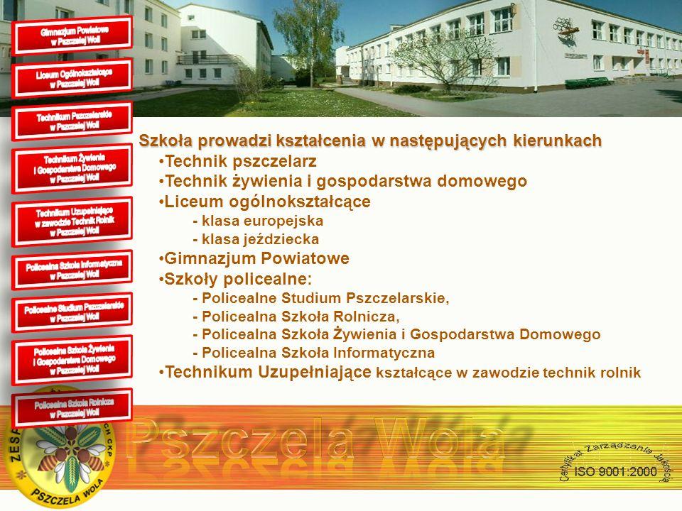 Ogółem w szkole uczy się 700 uczniów Zatrudniamy 61 nauczycieli (w tym 26 nauczycieli dyplomowanych) Szkoła posiada: pasiekę dydaktyczną licząca 180 rodzin pszczelich 120 hektarowe gospodarstwo rolne