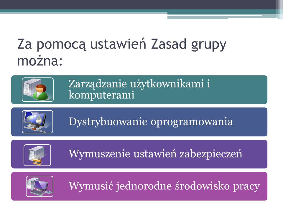 Co oznaczają włączone oraz wyłączone ustawienia Zasad grupy.
