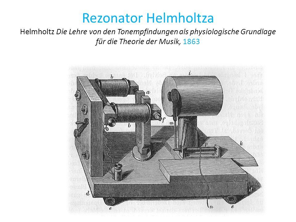 Rezonator Helmholtza Helmholtz Die Lehre von den Tonempfindungen als physiologische Grundlage für die Theorie der Musik, 1863