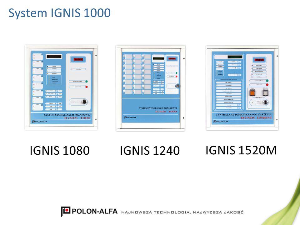 System IGNIS 1000 IGNIS 1080 IGNIS 1240 IGNIS 1520M