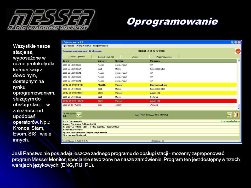 Jeśli Państwo nie posiadają jeszcze żadnego programu do obsługi stacji - możemy zaproponować program Messer Monitor, specjalnie stworzony na nasze zam