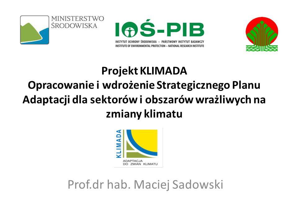 Podstawy realizacji Projekt jest realizowany w latach 2011-2013 przez IOS-PIB na zlecenie Ministra Środowiska i finansowany przez Narodowy Fundusz Ochrony Środowiska i Gospodarki Wodnej.