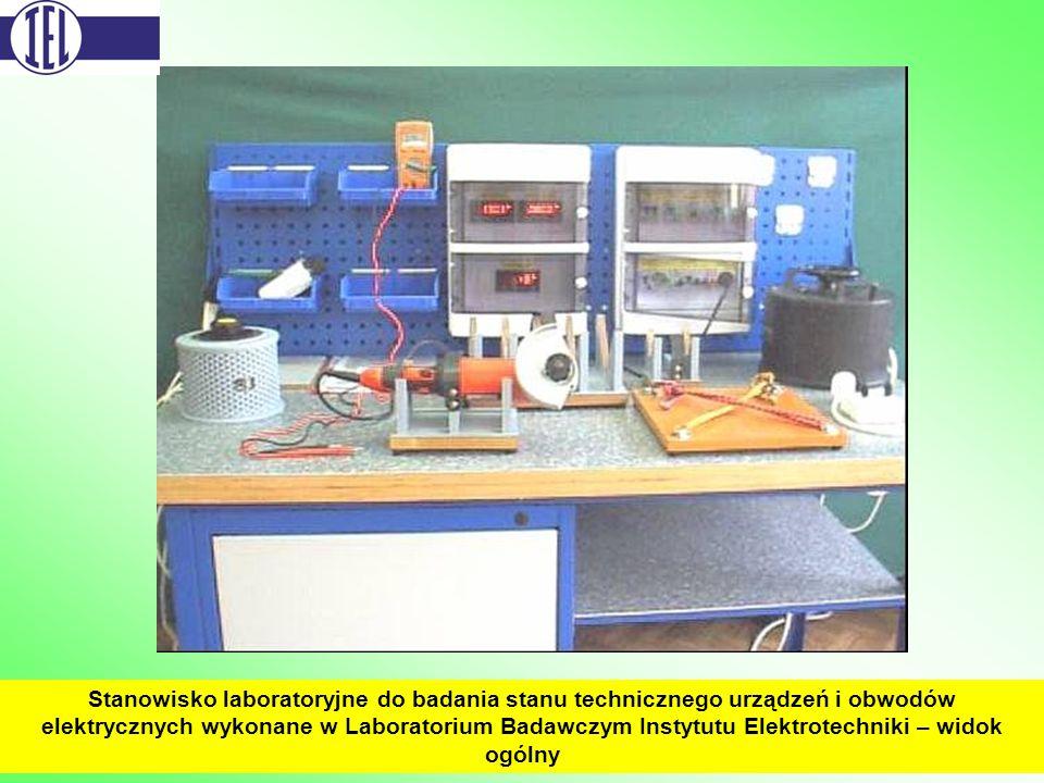 Stanowisko laboratoryjne do badania stanu technicznego urządzeń i obwodów elektrycznych wykonane w Laboratorium Badawczym Instytutu Elektrotechniki –