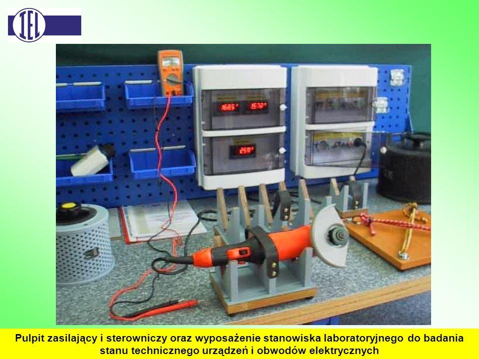 Pulpit zasilający i sterowniczy oraz wyposażenie stanowiska laboratoryjnego do badania stanu technicznego urządzeń i obwodów elektrycznych
