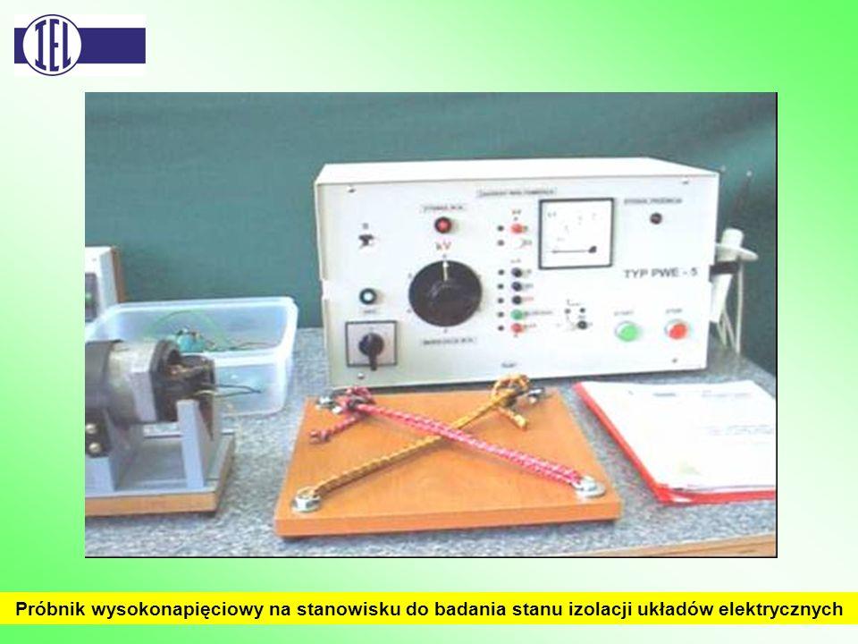 Próbnik wysokonapięciowy na stanowisku do badania stanu izolacji układów elektrycznych