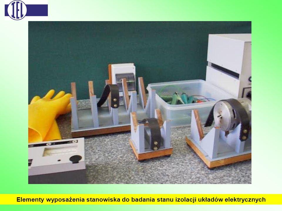 Elementy wyposażenia stanowiska do badania stanu izolacji układów elektrycznych