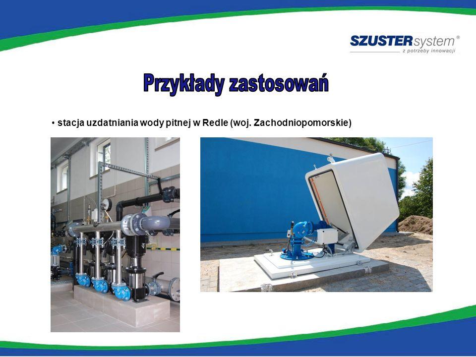 stacja uzdatniania wody pitnej w Redle (woj. Zachodniopomorskie)