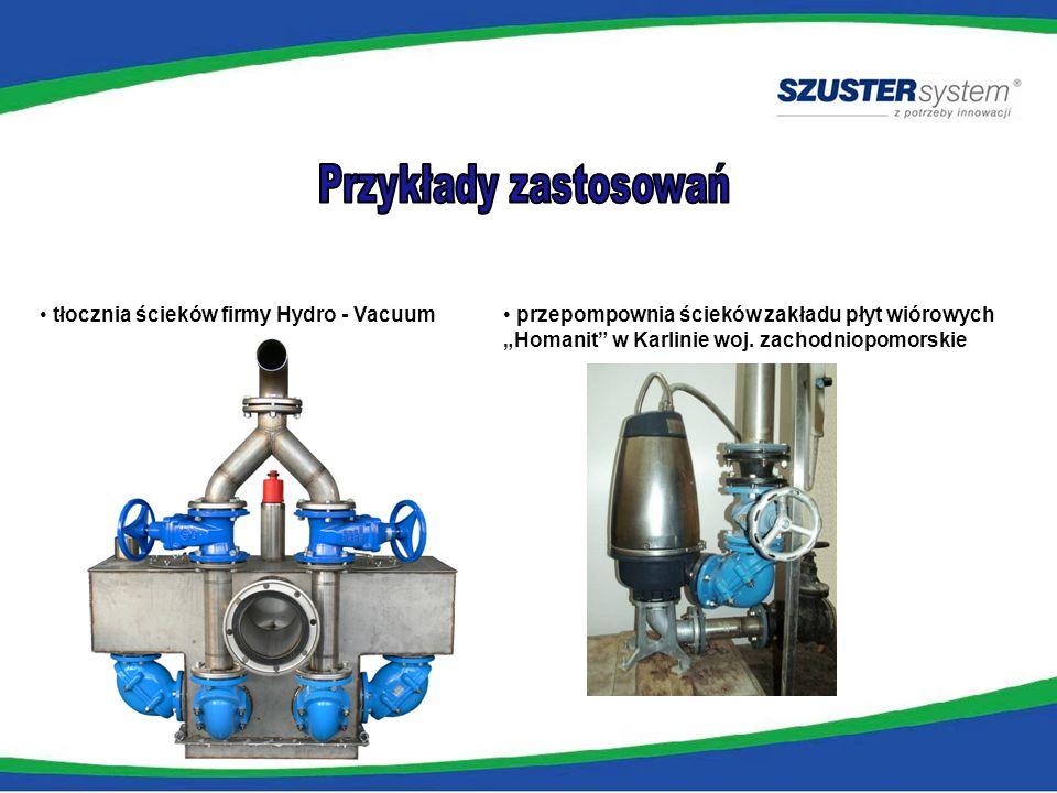 tłocznia ścieków firmy Hydro - Vacuum przepompownia ścieków zakładu płyt wiórowych Homanit w Karlinie woj. zachodniopomorskie
